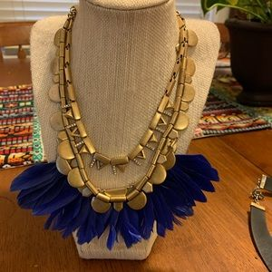 Stella and Dot feather necklace.
